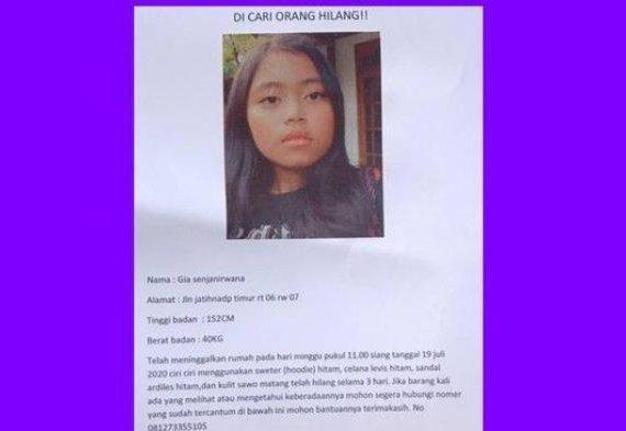 Mojang Bandung yang Hilang Sejak Minggu, Siang Tadi Ditemukan