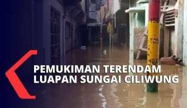 Ratusan Rumah Warga di Kebon Pala Kebanjiran Luapan Sungai Ciliwung