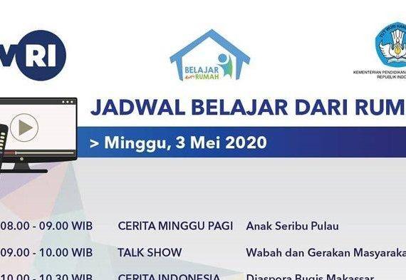 Anak Seribu Pulau dari Jam 8 Jadwal & Link Streaming Belajar dari Rumah TVRI Minggu 3 Mei 2020