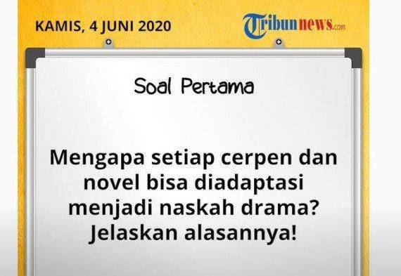 Belajar dari Rumah Materi Pengenalan Drama Kamis 4 Juni 2020 Jawaban Soal TVRI SD Kelas 4-6